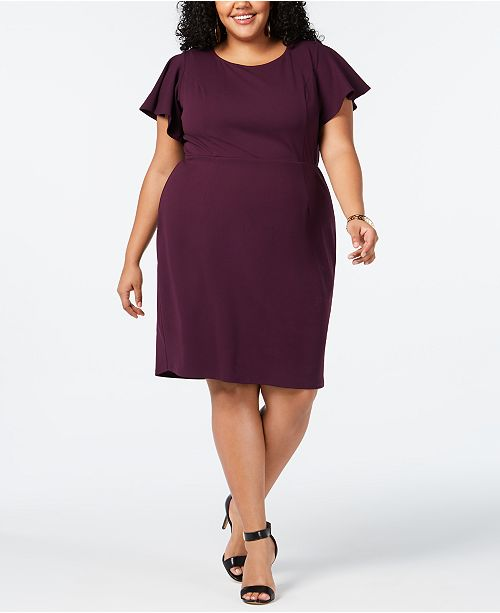 bdb030b6a52 Love Squared Trendy Plus Size Flutter-Sleeve Dress   Reviews ...