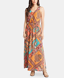 Karen Kane Printed Slit Maxi Dress
