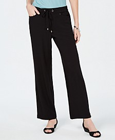 Petite Textured Pull-On Pants, Created for Macy's