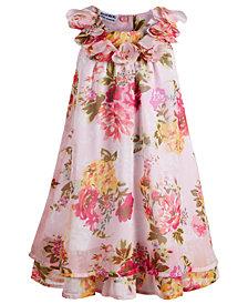 Blueberi Boulevard Toddler Girls Floral-Print Shift Dress