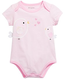First Impressions Baby Girls Birds Bodysuit, Created for Macy's