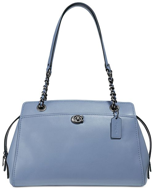 COACH Parker Carryall Satchel in Refined Leather