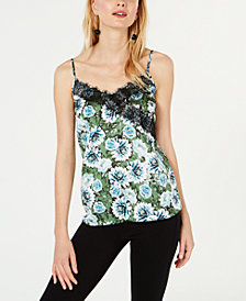 I.N.C. Petite Floral Lace Tank Top, Created for Macy's