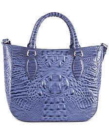 Brahmin Small Lena Melbourne Embossed Leather Satchel