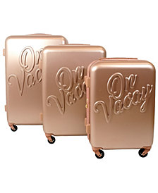 Macbeth Collection On Vacay 3-Piece Nested Luggage Set