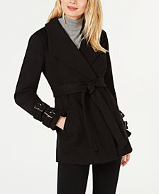 I.N.C. Belted Ponte-Knit Coat, Created for Macy's