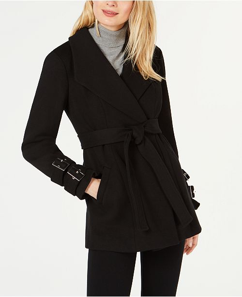 INC International Concepts I.N.C. Belted Ponte-Knit Coat, Created for Macy's