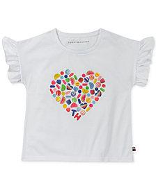 Tommy Hilfiger Big Girls Candy Heart T-Shirt