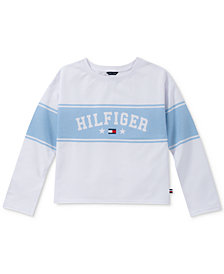 Tommy Hilfiger Toddler Girls Striped French Terry Sweatshirt