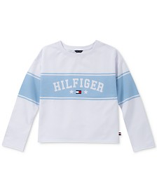 Tommy Hilfiger Big Girls Striped French Terry Sweatshirt