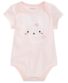 First Impressions Baby Girls Bunny Bodysuit, Created for Macy's
