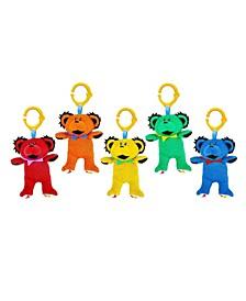 5-Pack of Grateful Dead Multi Functional Dancing Bear Plush Toys