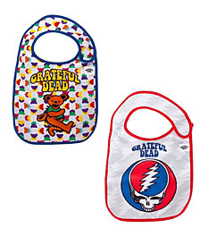2-Pack of Grateful Dead Dancing Bear and Steal Your Face Extra Soft Bibs by Daphyl's