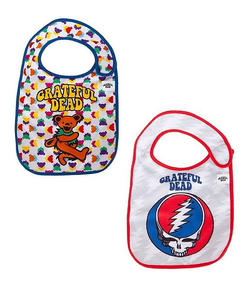 Daphyl's 2-Pack of Grateful Dead Dancing Bear and Steal Your Face Extra Soft Bibs