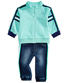 First Impressions Baby Boys Track Jacket & Side-Stripe Jeans, Created for Macy's