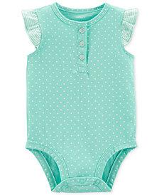 Carter's Baby Girls Cotton Dot-Print Bodysuit
