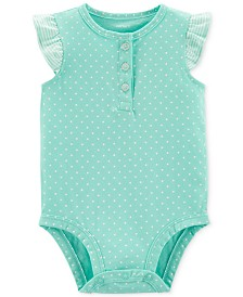 Carter's Baby Girls Cotton Dot-Print Bodysuit