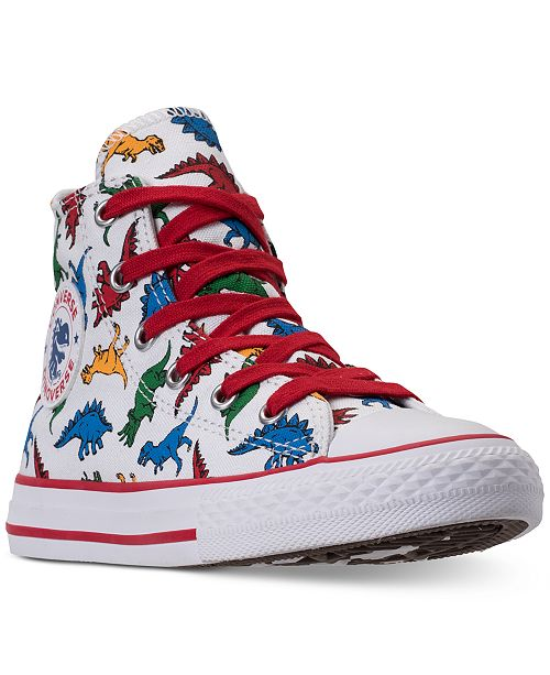cb66491b3c7e ... Converse Little Boys  Chuck Taylor All Star Dinoverse High-Top Casual  Sneakers from Finish ...