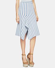 BCBGMAXAZRIA Pointelle-Stripe A-Line Skirt