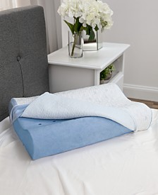 SensorGel Cold Touch Contour Gel-Infused Memory Foam Pillow - Oversized