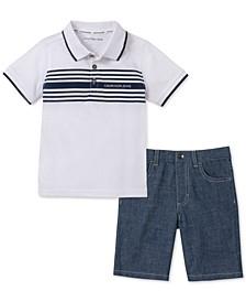 Toddler Boys 2-Pc. Polo & Shorts Set