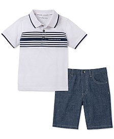 Calvin Klein Little Boys' Polo Set
