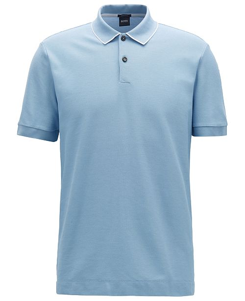 1a06517f2 Hugo Boss BOSS Men's Regular/Classic-Fit Cotton Polo & Reviews ...