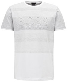 BOSS Men's Striped Logo Cotton T-Shirt