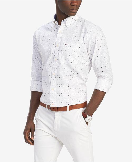f72312b3 Tommy Hilfiger Men's Classic-Fit Bob Geo-Print Shirt, Created for Macy's