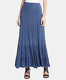 Karen Kane Crinkled Tiered Maxi Skirt