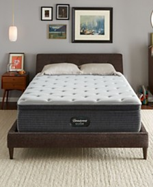 "Beautyrest Silver BRS900-TSS 14.75"" Medium Firm Pillow Top Mattress Set - Twin XL, Created For Macy's"