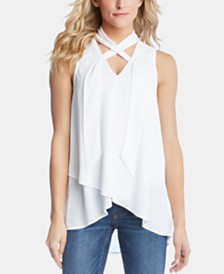 Karen Kane Tie-Neck Crossover Top