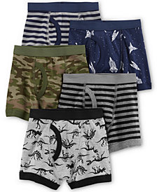 Carter's Little & Big Boys 5-Pk. Printed Cotton Boxer Briefs