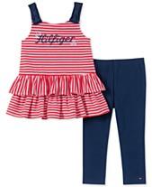 7310d59b Tommy Hilfiger Little Girls 2-Pc. Striped Tunic & Leggings Set