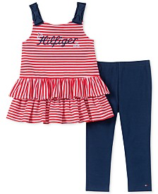 Tommy Hilfiger Toddler Girls 2-Pc. Striped Tunic & Leggings Set