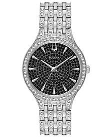 Bulova Women's Phantom Stainless Steel & Crystal-Accent Bracelet Watch 32mm