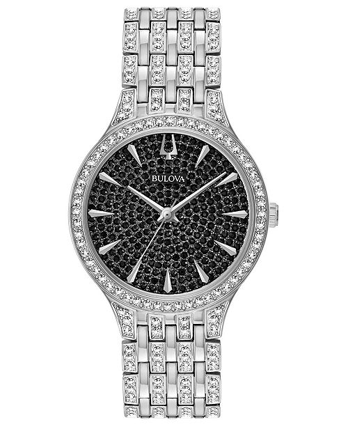 Bulova Women's Phantom Stainless Steel & Crystal-Accent Bracelet Watch 32mm