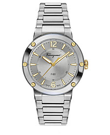 Ferragamo Women's Swiss F-80 Stainless Steel Bracelet Watch 34mm