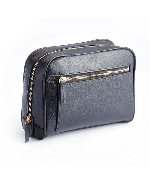 3b74f5f47e9 EMPORIUM LEATHER CO ROYCE LEATHER. Royce New York Pebbled Toiletry Bag with Front  Zipper Compartment. Be the first to Write a Review.  311.00. main image ...