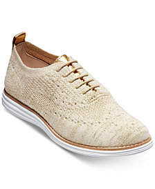 Cole Haan Original Grand Knit Wingtip Oxford Flats