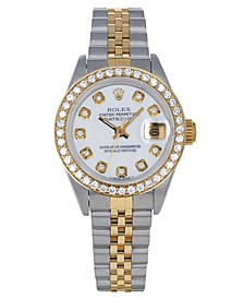 Women's Swiss Automatic Datejust Jubilee (3/4 ct. t.w.) 18K Gold & Stainless Steel Bracelet Watch 26mm
