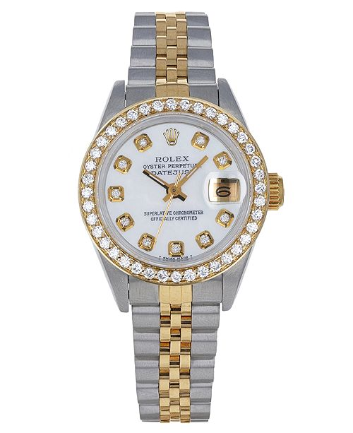 t.w.  Pre-Owned Rolex Women s Swiss Automatic Datejust Jubilee (3 4 ct. 71df5b2642