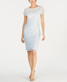 Adrianna Papell Ombré Illusion Sheath Dress