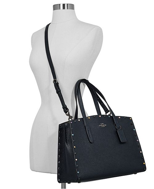 544470e08d COACH Charlie Carryall in Pebble Leather & Reviews - Handbags ...