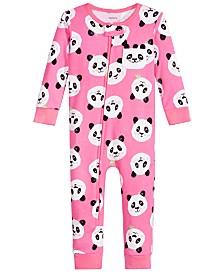 Carter's Baby Girls Cotton Panda Pajamas
