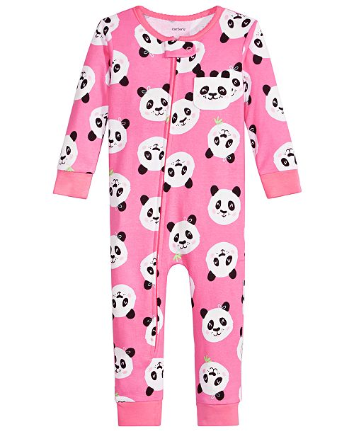 Carter's Baby Girls Cotton Panda Pajamas