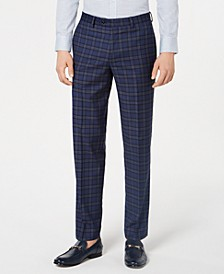 Men's Slim-Fit Plaid Pants