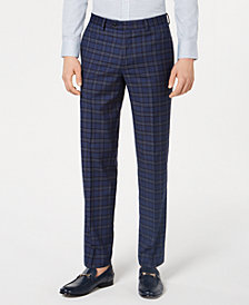 Bar III Men's Slim-Fit Plaid Pants