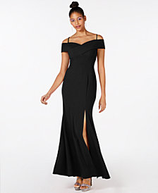Nightway Cold Shoulder Gown