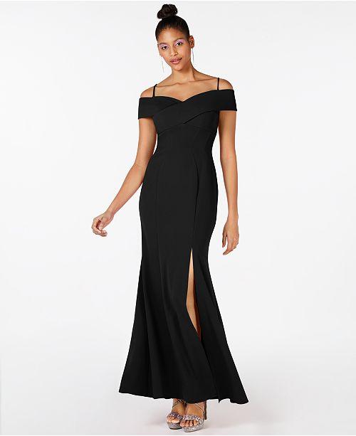 Nightway Cold Shoulder Gown